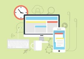 Ícones gratuitos de negócios na Web vetor