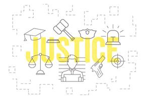 Conjunto de vetores de ícones de justiça