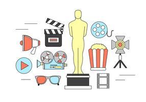 Elementos do vetor do filme