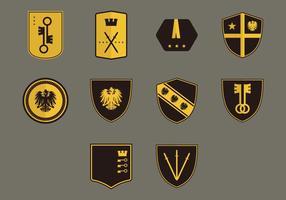 Conjunto de ícones Blason vetor