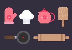 Vector de elementos de cozinha gratuitos