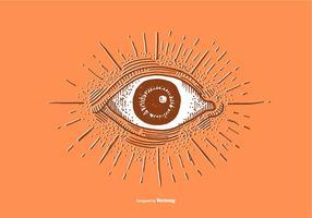 Desenho de bola de olho vetor