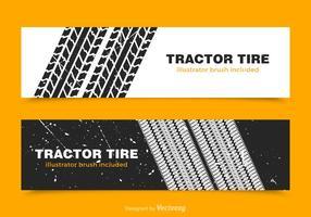 Banners de vetor de pneu de trator livre