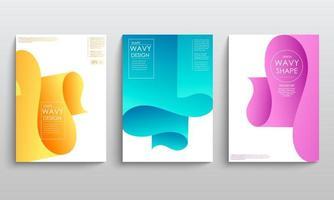 capas de cartazes de brochuras geométricas vetor