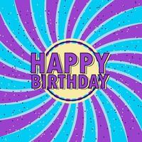 fundo de confete de redemoinho de feliz aniversário vetor
