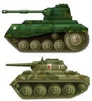 dois tanques blindados vetor