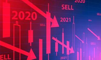 fundo do mercado de ações vetor