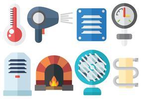 Vetores de objetos de calor