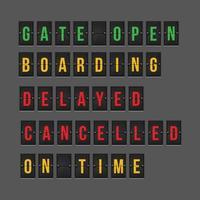 sinais de status de informações de voo vetor