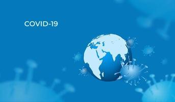 Covid-19 espalhando-se pelo globo terrestre vetor