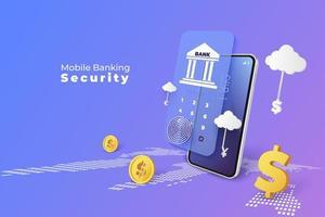 serviço de mobile banking no smartphone