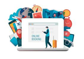 conceito de reserva online