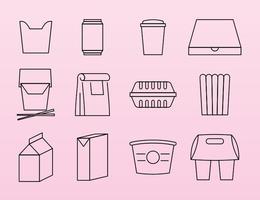 Ícones do pacote de alimentos