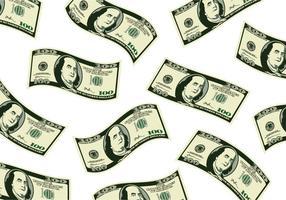 100 dólares dispersos vetor
