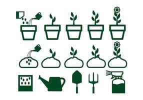 Cresça o vetor da planta de flores