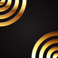 abstrato com círculos de metal ouro vetor