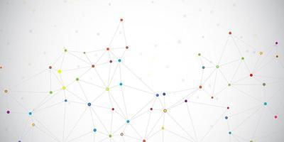 banner de pontos de conexões vetor