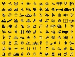 símbolos de equipamentos de proteção vetor