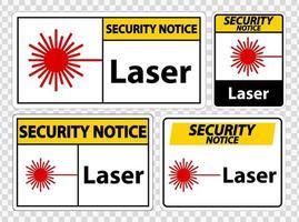 sinal de símbolo de laser