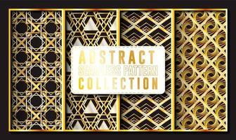 coleção dourada abstrata e geométrica padrão sem emenda vetor
