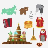 conjunto de ícones da rússia vetor