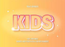 texto editável gradiente amarelo com brilhos e contornos vetor