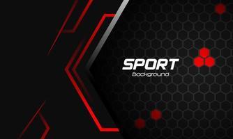 fundo esporte vermelho e cinza com formas abstratas vetor