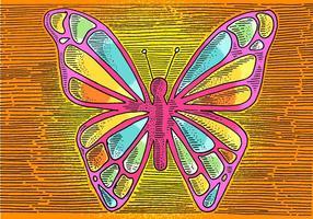 Desenho de linha de borboleta vetor