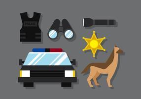 Polícia vetorial vetor