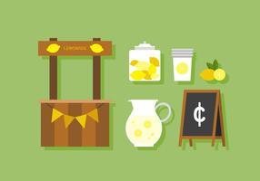 Carrinho de limonada vetorial vetor