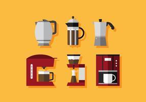 Cafe cafeteira vetor