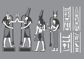 Ícones egípcios Cartouches vetor