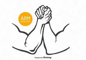 Livre braço de vetores wrestling