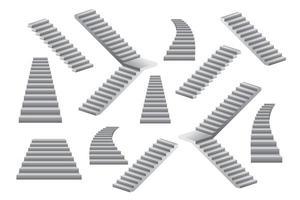 conjunto de escadas cinza vetor