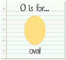 o é para oval vetor