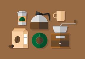 Elementos do café vetorial vetor