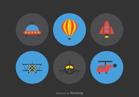 Ícones de vetor de aviação grátis