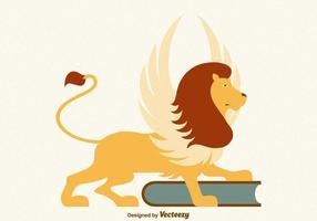 Leão voado vetor livre