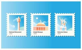 coleção de selos postais
