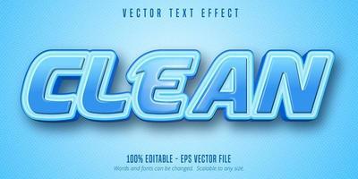 efeito de texto delineado azul brilhante e limpo vetor