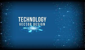 design de tecnologia azul com bordas de linha conectadas vetor