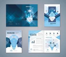 conjunto de design de capa azul
