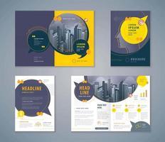 olhar conjunto de design de livro