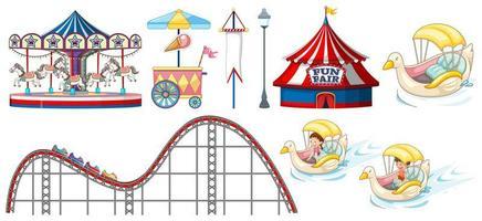 objetos temáticos de circo e carnaval vetor