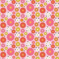 retrô sem costura padrão floral com tons de rosa