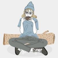 mulher tomando café.
