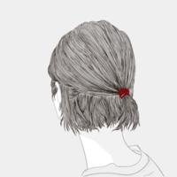 esqueleto de penteado