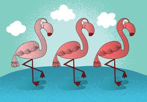 Vetores felizes de flamingo