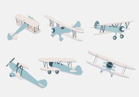 Vector de ilustração do biplano