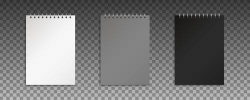 mock up de blocos de notas em branco vetor